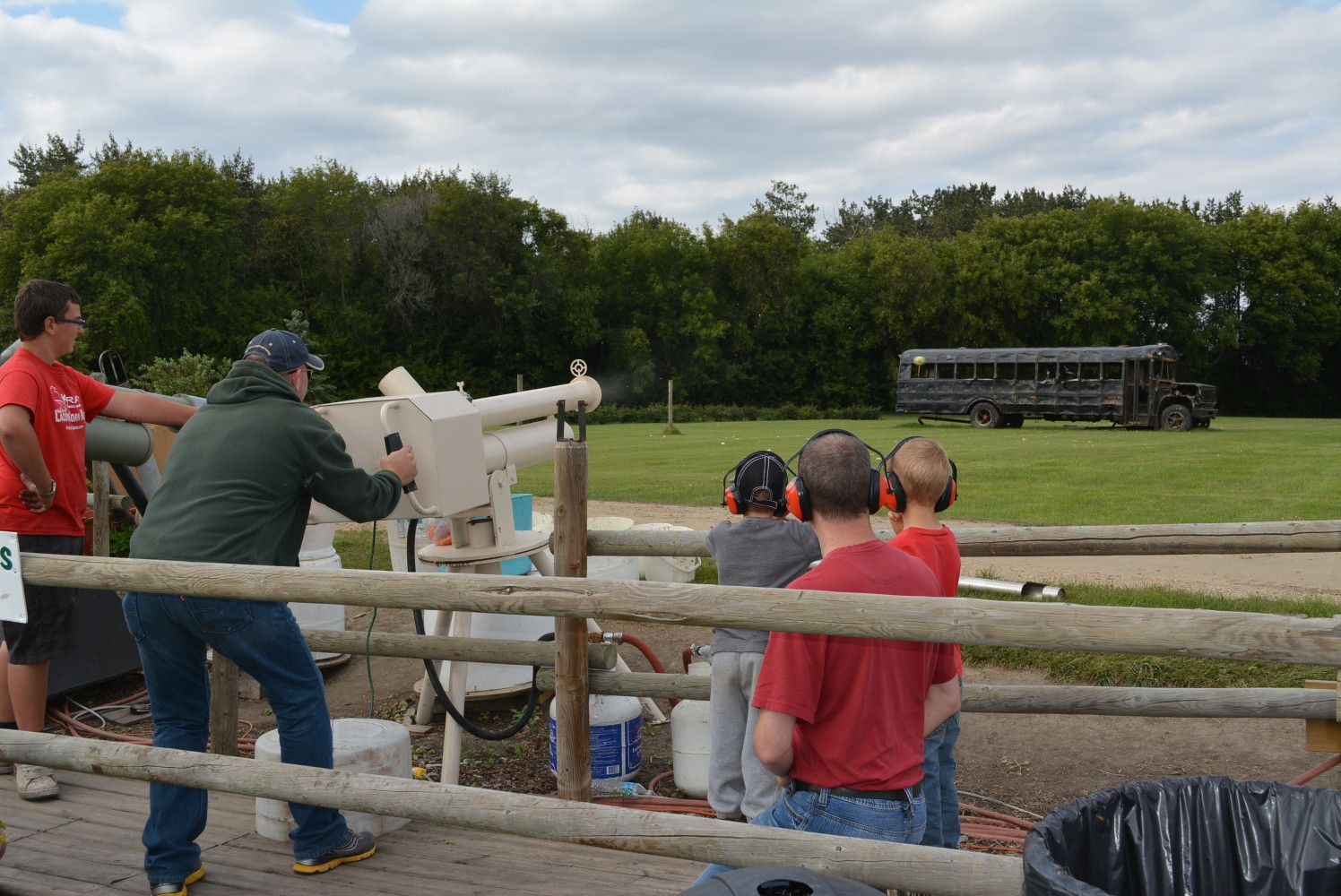 Target Shooting With Pumpkins at Kraay Family Farm