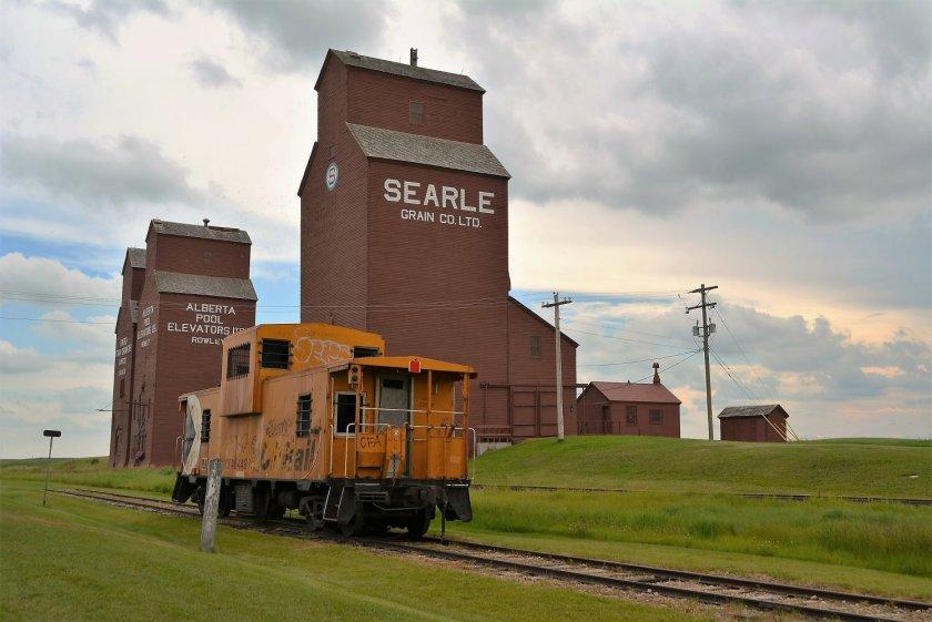 Grain Elevators at Rowley Alberta