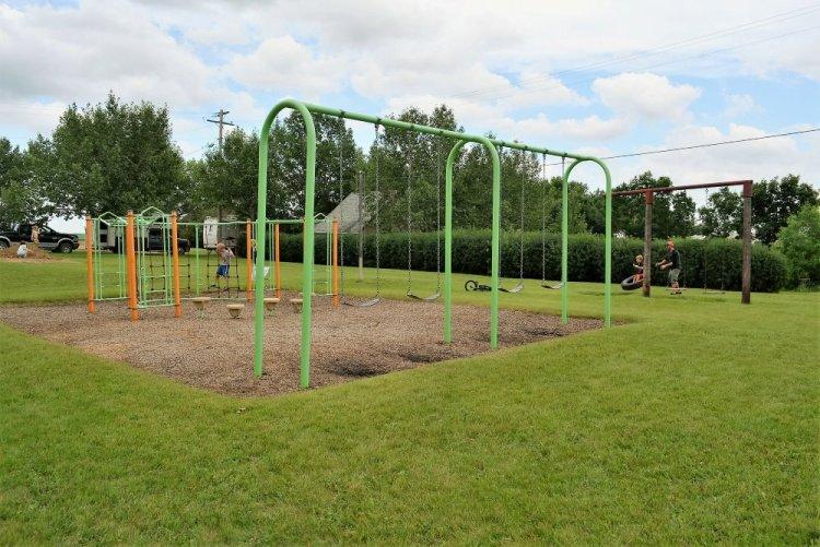 Vintage Playground at Rowley Alberta