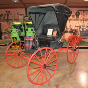 two seat horse drawn buggy