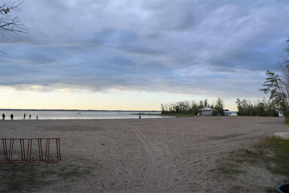 empty beach with overcastsky