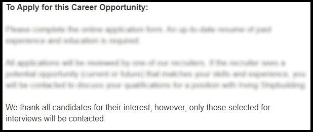 how to apply to a job highlighting commitment to not respond to all applicants
