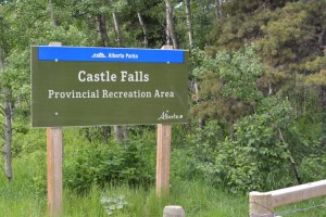 Sign at entrance to Castle Falls Campground