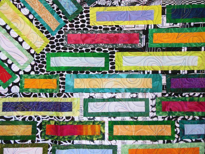 Acropatch-Motif-Matelassage-COQUILLE-Panneau-mural-attila-détail-quiltage-fil-multicolore
