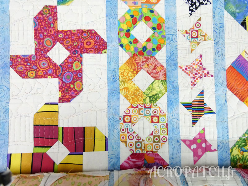 Acropatch-Plaid-Zébulon-Motif-Quilting-Medley-fil-multicolore pastel-portion après le matelassage