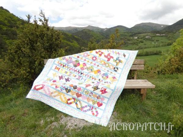 Acropatch-Plaid-Zébulon-Motif-Quilting-Medley-fil-multicolore pastel