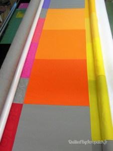 Acropatch-Sampler-Motif-Quilting-fil-gris-plusieurs blocs avant le quilting