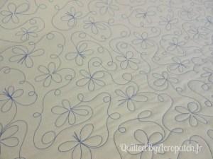 Panneau-mural-Watercolor-Motif-Quilting-Farandole-fil-uni-bleu moyen-vue sur l'envers