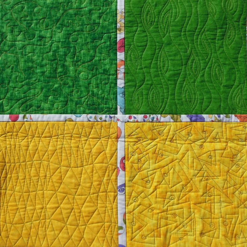 Acropatch-motif-quilting-FEUILLE DE CHENE-panneau-mural-sampler-motif-quiltage-détails