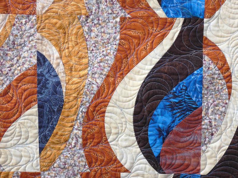 Acropatch-motif-quilting-TEMPETE-tableau-textile-fil-dégradé-bleu-détails
