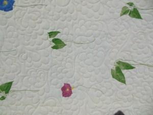 """Couverture-""""Diagonales""""-Motif-Quilting-NUAGE-fil-multicolore-matelassage vu sur l'envers"""