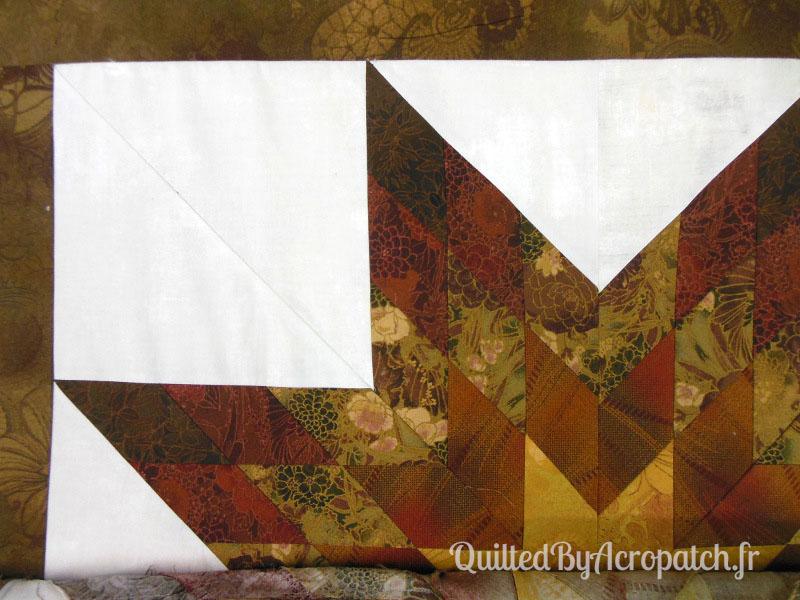 The lone star-Panneau-mural-Motif-Quilting-Ondulation-fil-dégradé-mordoré-avant le quiltage