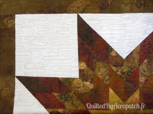 The lone star-Panneau-mural-Motif-Quilting-Ondulation-fil-dégradé-mordoré-après le quiltage