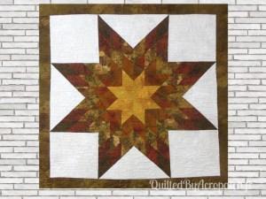 The lone star-Panneau-mural-Motif-Quilting-Ondulation-fil-dégradé-mordoré