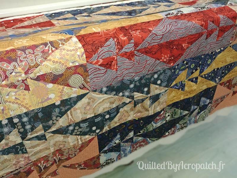 Panneau-mural-Oz-Motif-Quilting-Plumétis-Fil-uni-vert d'eau-154x116cm-Avant le quilting