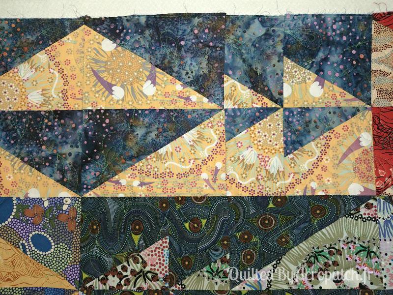 Panneau-mural-Oz-Motif-Quilting-Plumétis-Fil-uni-vert d'eau-154x116cm-Après le quilting