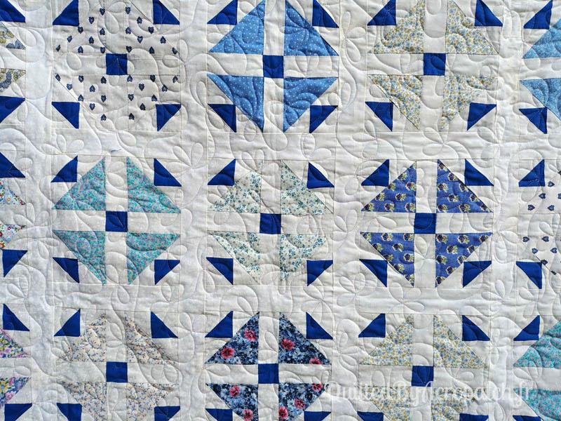 Plaid-Motif-Quilting-Pétale-Fil-multicolore-pastel-122x148-Détails