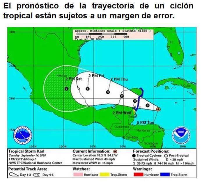 El próximo 1 de junio inicia la temporada de ciclones tropicales 2019 y como cada año veremos imágenes donde se nos muestren los pronósticos de las probables trayectorias.