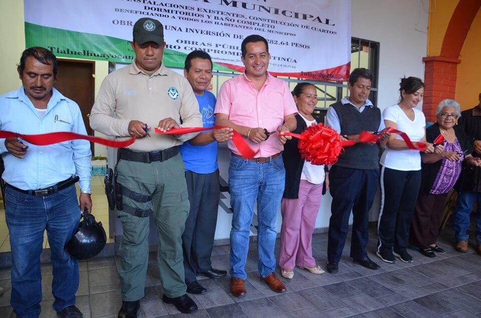 Este miércoles, el alcalde de Tlalnelhuayocan, David Ángeles Aguirre inauguró la remodelación y ampliación del módulo de seguridad pública de la Fuerza Civil en la cabecera municipal.
