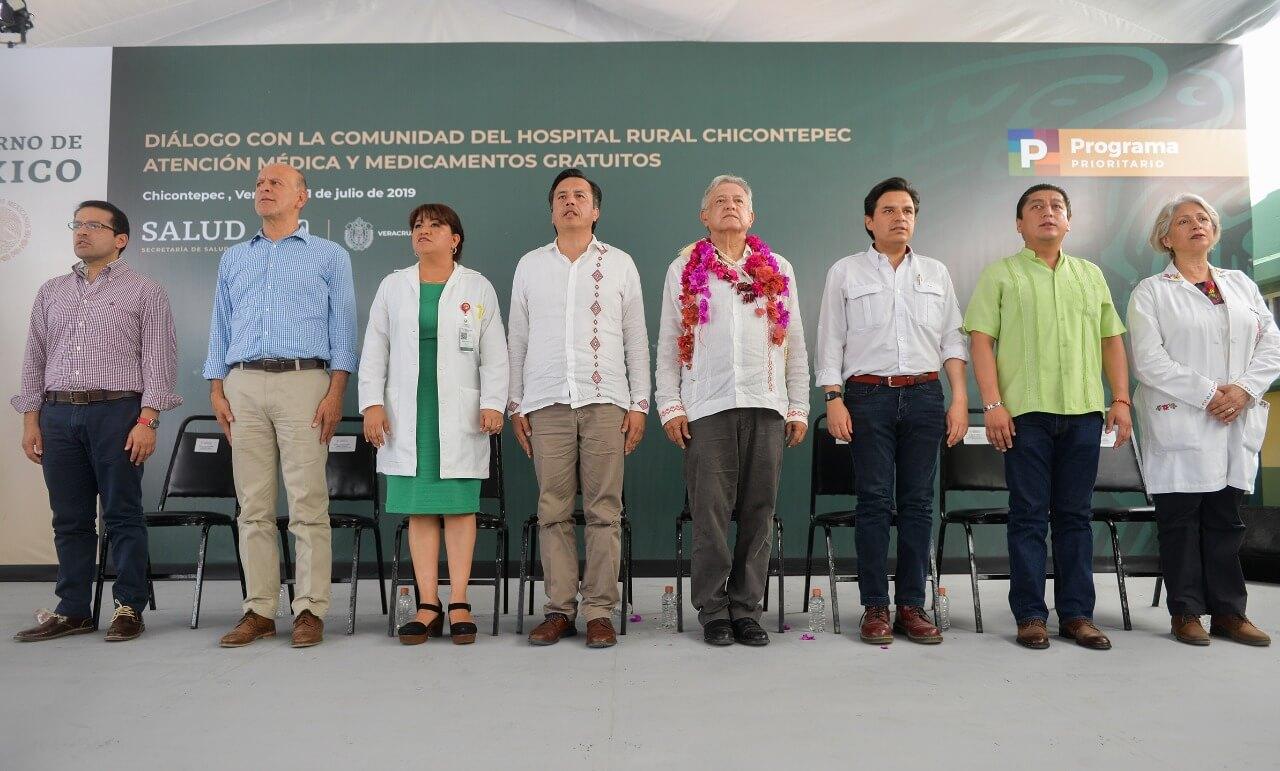 Durante la gira de supervisión a hospitales del Instituto Mexicano del Seguro Social (IMSS) en Chicontepec, realizada por el presidente, Andrés Manuel López Obrador, el gobernador del estado, Cuitláhuac García anunció que durante este 2019, se inaugurarán 156 centros de salud.