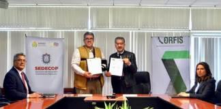 La Secretaría de Desarrollo Económico y Portuario (SEDECOP) y el Órgano de Fiscalización Superior (ORFIS) del Estado de Veracruz signaron un convenio de colaboración para incorporar a los 212 municipios a la Estrategia Nacional de Mejora Regulatoria.
