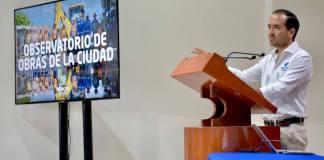 """Como una muestra más de los principios transparencia y apertura gubernamental con al que se conduce la actual administración municipal de Veracruz, el presidente municipal Fernando Yunes Márquez dio a conocer el Portal """"Observatorio de Obras de la Ciudad""""."""
