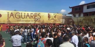 Este jueves 19 de septiembre, se realizó un simulacro en la Universidad de Xalapa, en conmemoración de los sismos de 1985 y 2017.