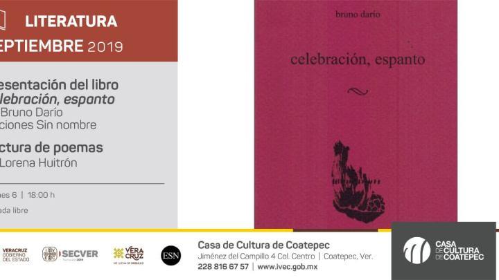"""Presentará IVEC el libro """"celebración, espanto"""" en Casa de Cultura de Coatepec"""