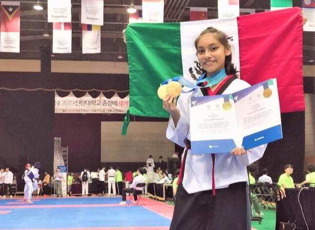 La taekwondoina veracruzana Nicole Dorantes Rodríguez obtuvo tres medallas de oro en una competencia, luego de haber cursado un campamento de especialización realizado en Korea del Sur.