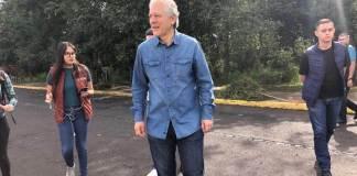 """Durante la """"Jornada de Reforestación Parque Natura 2019"""", el presidente municipal, Hipólito Rodríguez Herrero afirmó que su gobierno está trabajando para la conservación de los parques de la ciudad."""