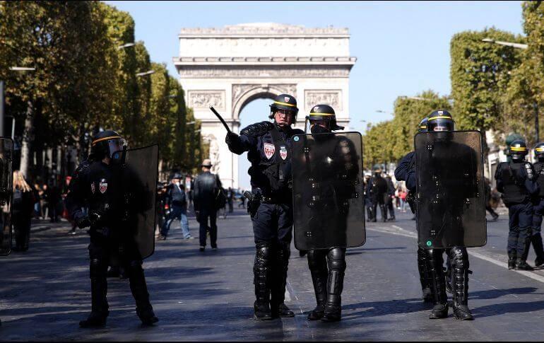 Este sábado, las fuerzas del orden de Francia detuvieron al menos a 123 manifestantes del movimiento