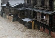 """Autoridades japonesas activaron la alerta máxima por lluvias, ante el próximo tifón """"Hagibis"""", en 12 prefecturas del centro y este del país: Shizuoka, Kanagawa, Tokio, Saitama, Gunma, Yamanashi, Nagano, Ibaraki, Tochigi, Niigata, Fukishima y Miyagi."""