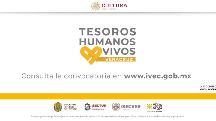 Convoca IVEC a reconocer a los Tesoros Humanos Vivos de Veracruz