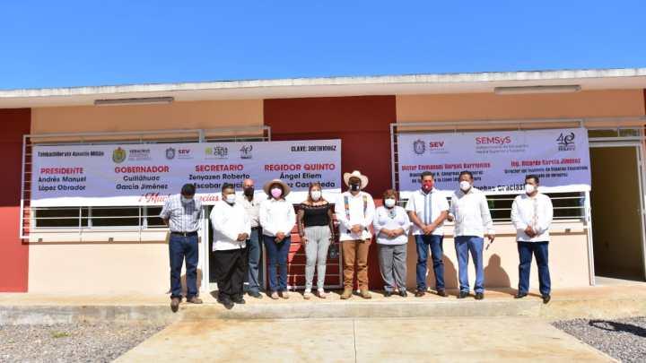 En Córdoba, entrega SEV nuevo plantel de Telebachillerato en beneficio de cien estudiantes