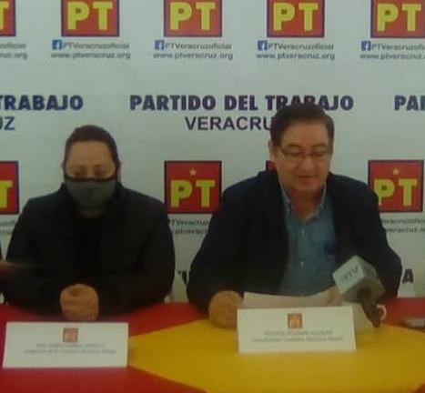Sin Alianza con Morena y PVEM, el PT va solo.