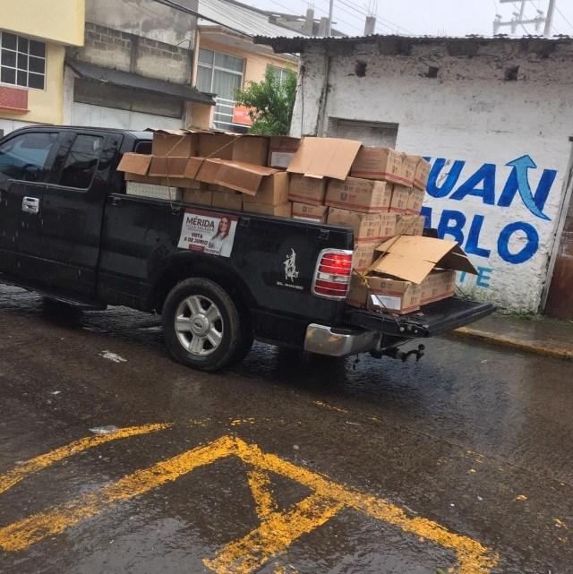 Denuncian a alcalde de  Altotonga de apoyar a candidata de Morena.