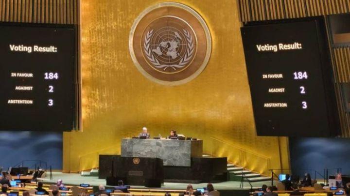 Con abrumadora mayoría la ONU rechaza bloqueo económico de EU a Cuba