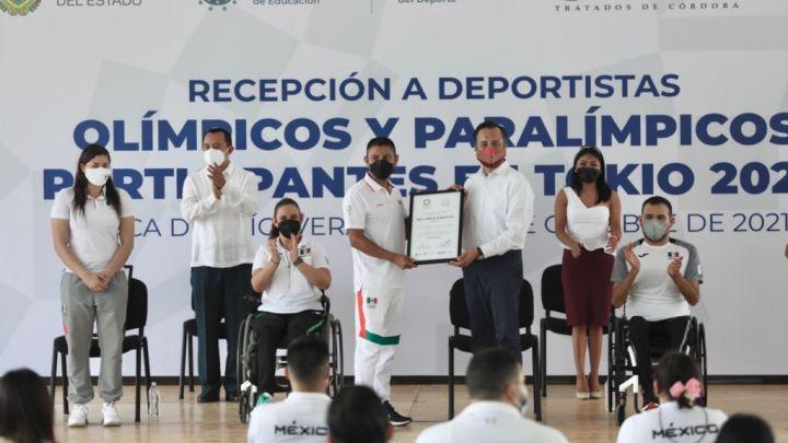 El gobierno de Veracruz reconoce a los deportistas que participaron en Tokio