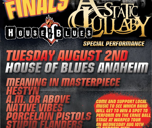 Join The Acropolis Crew In Downtown Disney To Make Some Noise For The Band You Think Belongs On The Vans Warped Tour 2011 And Stick Around For Special Guest