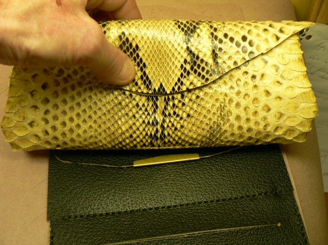 Exotic Python clutch wallet@acrossleather.com