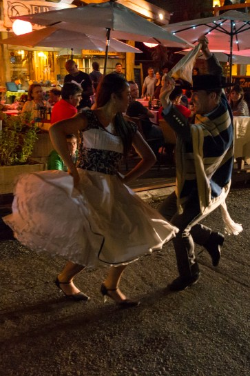 Dancing the Cueca on the streets