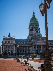 Palacio del Congreso. Modeled on Washington DC's capital building