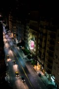 Night view overlooking Avenida Santa Fe