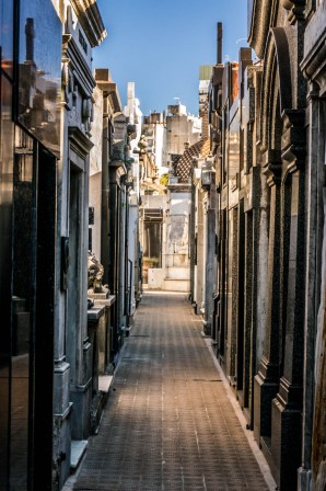 Typical tomb alleyways