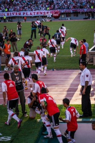 River plate emerges from the locker rooms