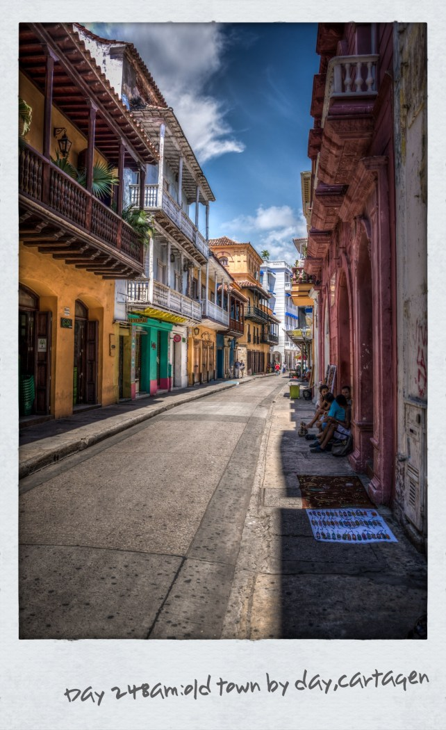 Sunday in Cartagena where the town empties out and the skies are blue so we set out early before the heat of the day with our cameras. A challenge to try and capture this place in a photo. Streets are narrow with extreme exposures of bright light on one side and heavy shadows on the other so Ben experiments with HDR to emphasise the detail. This post is one of his photos. Nobbies escape the heat later and wander through the Spanish Inquisition Museum where there is a macabre torture chamber for the witches. Ben thinks it hilarious to start [...]