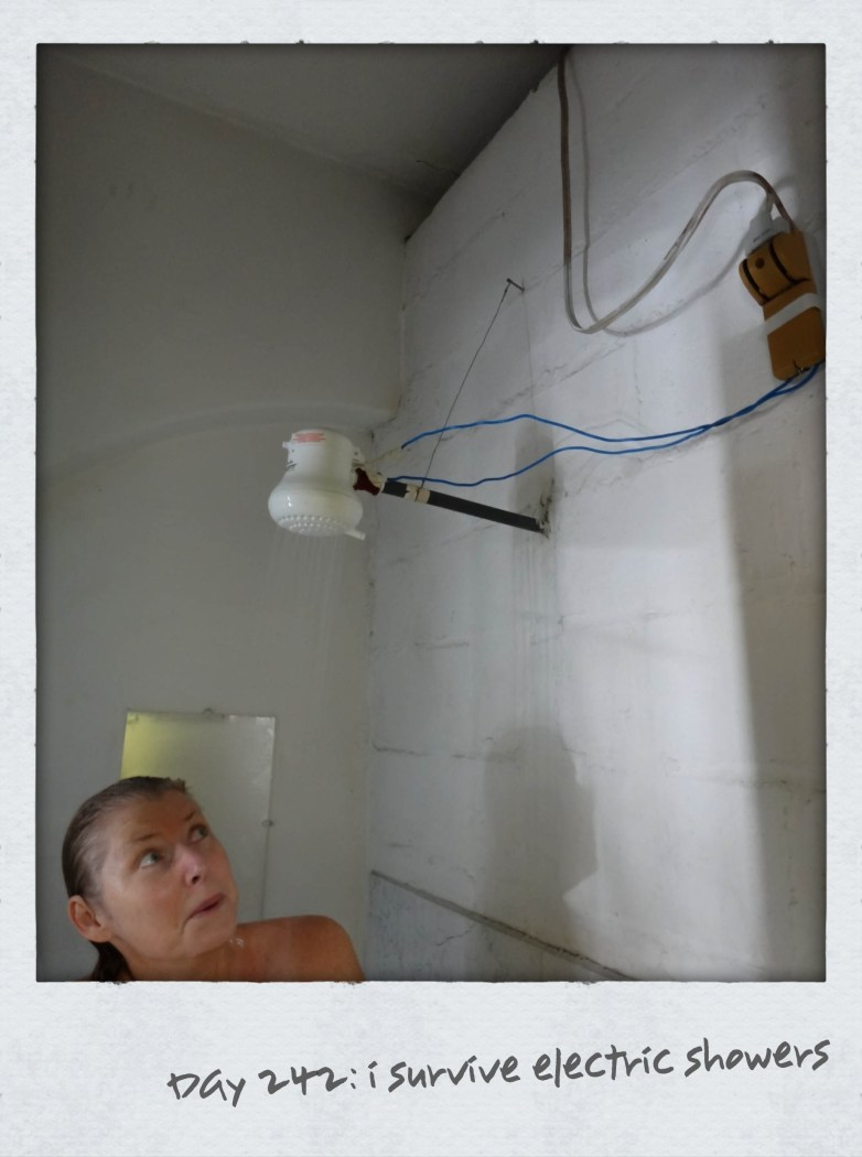 Sometimes Nobbies have to post the reality of our budget travelling and today is one of them. Electric showers is a shower head plugged into electricity to provide hot water and is common in older buildings in South America. This shower in Quito tops all the ones we have used. No OH&S practices here! Surviving no electric shocks (also common) we bid farewell to Ecuador as we literally booked a last minute flight the night before to get into Colombia. With only 3.5 weeks left in Sth America we take an afternoon flight to Cartagena on the Caribbean coast via [...]