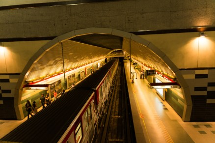 Typical Metro station