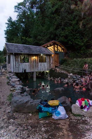 The Los Pozones termas (hot spring)