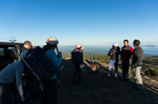 Briefing before our climb up on Volcano Villarica